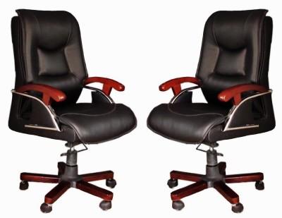TimberTaste COCO Metal Office Chair(Black, Set of 2)