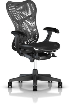 HermanMiller Mirra 2 - Graphite Triflex back : Graphite Seat : Triflex Polymer Synthetic Fiber Office Chair(Black)