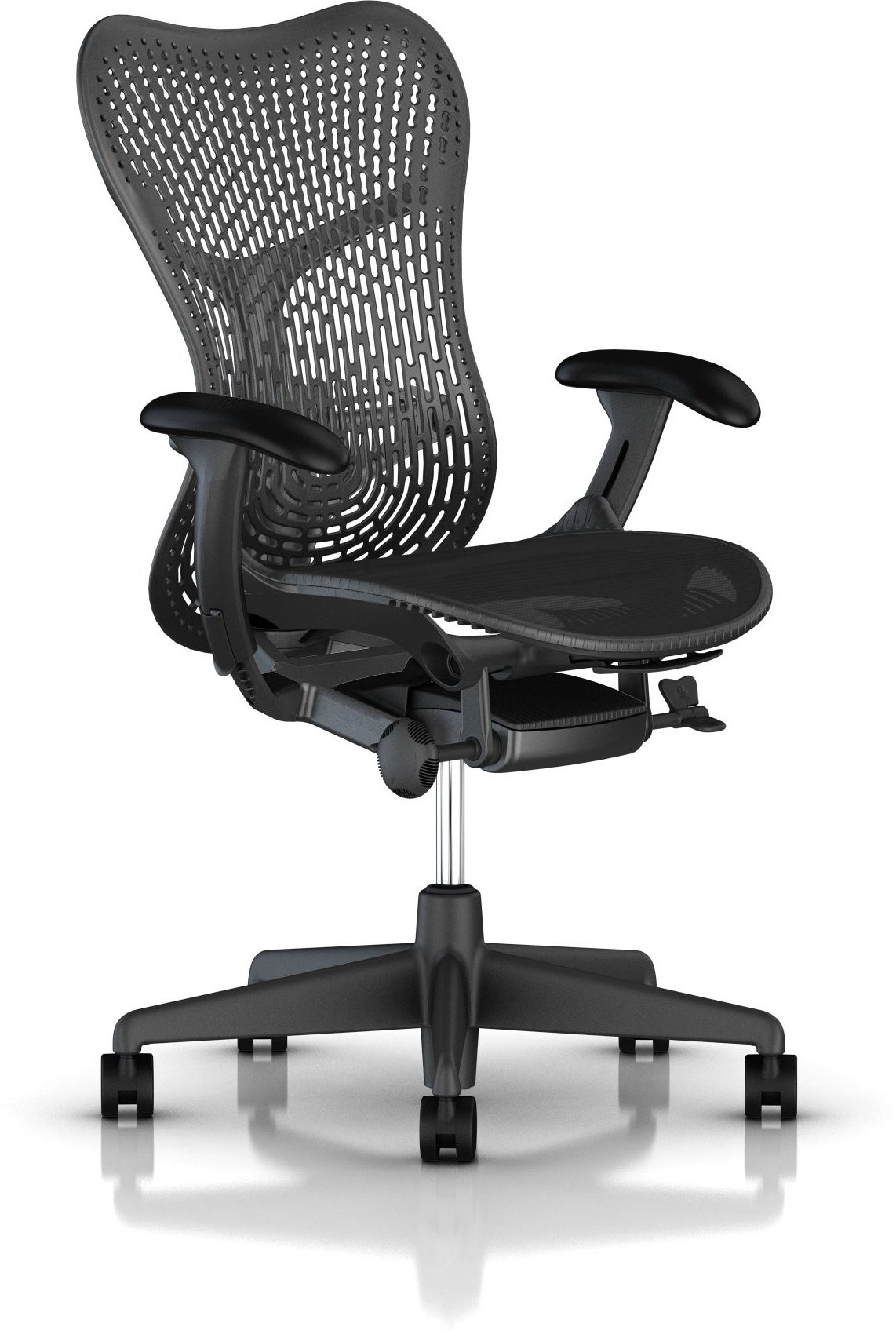View HermanMiller Mirra 2 - Graphite Triflex back : Graphite Seat : Triflex Polymer NA Office Chair(Black) Furniture (HermanMiller)