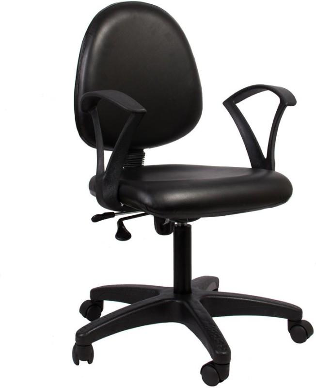 Hetal Enterprises Leatherette Office Chair(Black)