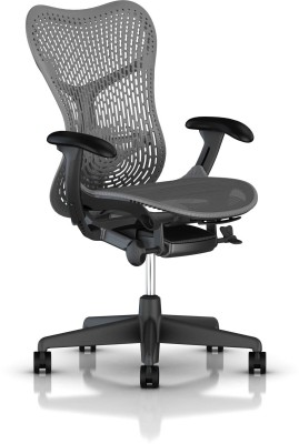 HermanMiller Mirra 2 - Slate Grey Triflex back : Slate Grey Seat : Triflex Polymer Synthetic Fiber Office Chair(Black)
