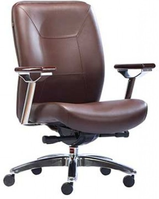 HOF Boss Synthetic Fiber Office Chair(Brown)