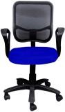 Adiko Plastic Office Chair (Black, Blue)