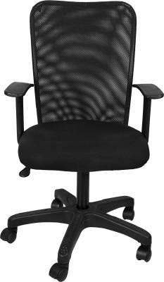 Hetal Enterprises Metal Office Chair(Black)