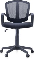 Urban Ladder Adams Leatherette Study Chair(Black)