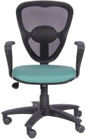 Woodstock India Fabric Office Chair(Black, Green)