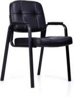Durian ANJIS/32002 Leatherette Visitor Chair(Black)