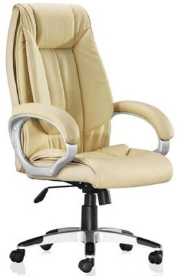 Adiko Leatherette Office Chair(Yellow)