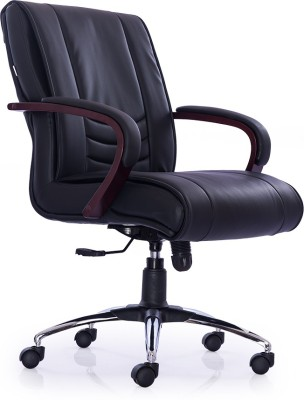 Durian INTERIO-LB-BLACK Leatherette Office Chair