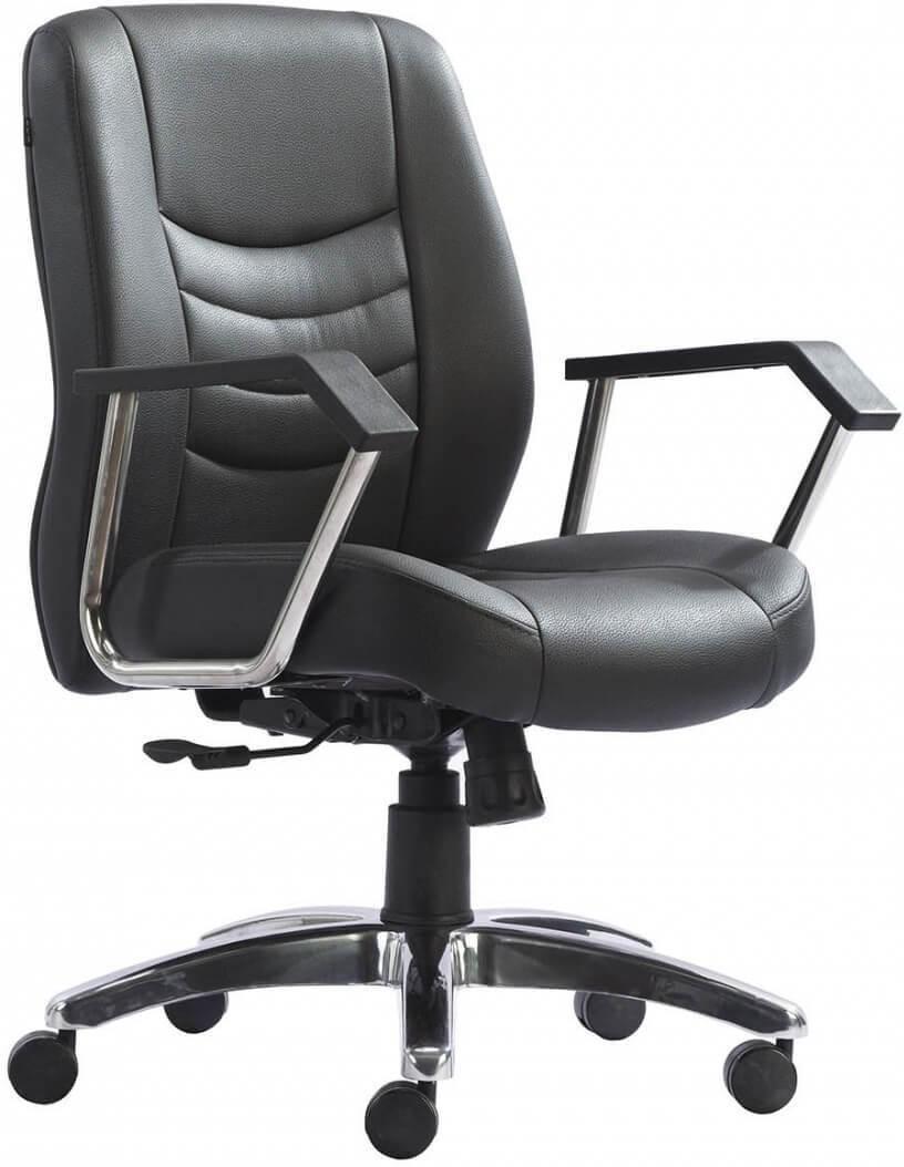 View HOF ELDO 432 N Premium Synthetic Fiber Office Chair(Black) Furniture (HOF)