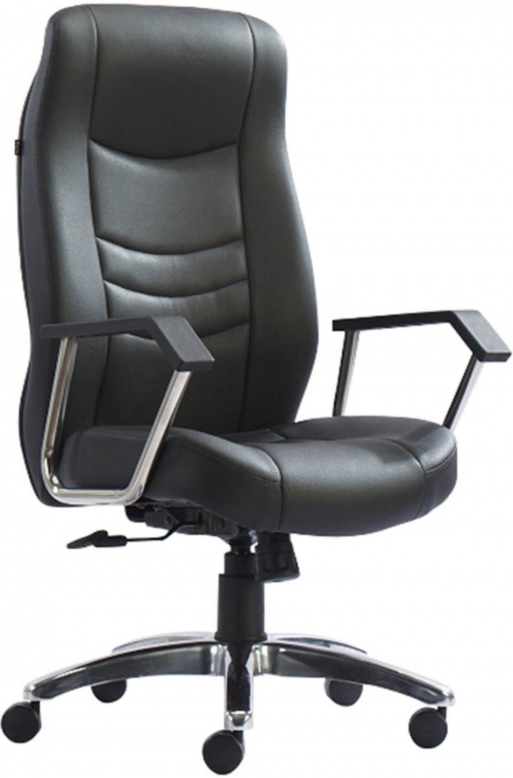 View HOF Eldo 431N Premium Leatherette Office Chair(Black) Furniture (HOF)