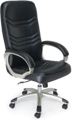 Adiko Leatherette Office Chair(Black)