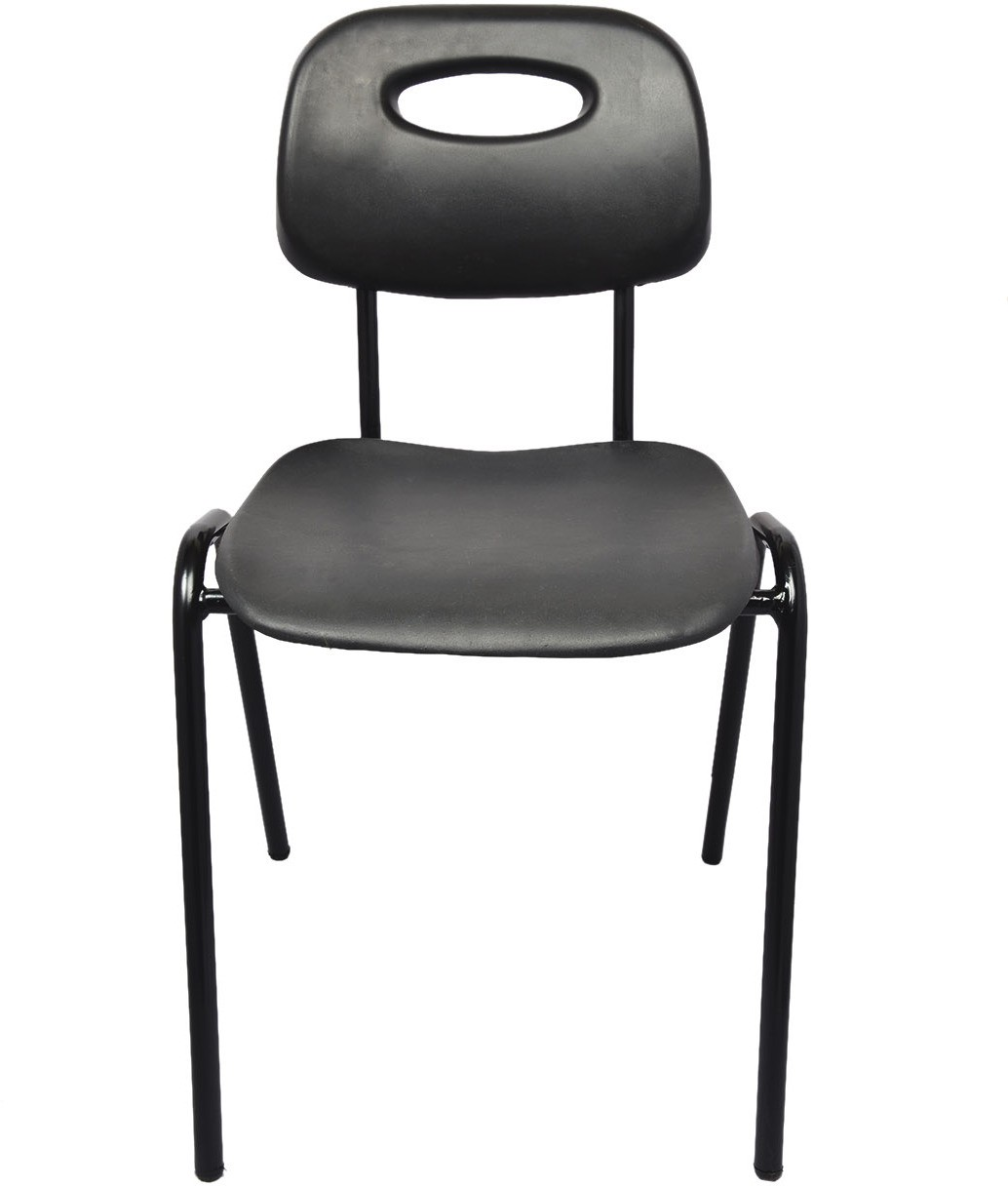 View Darla Interiors Plastic Visitor Chair(Black) Furniture (Darla Interiors)
