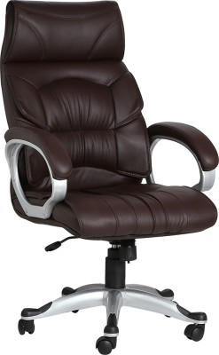 VJ Interior Leatherette Office Chair(Brown)