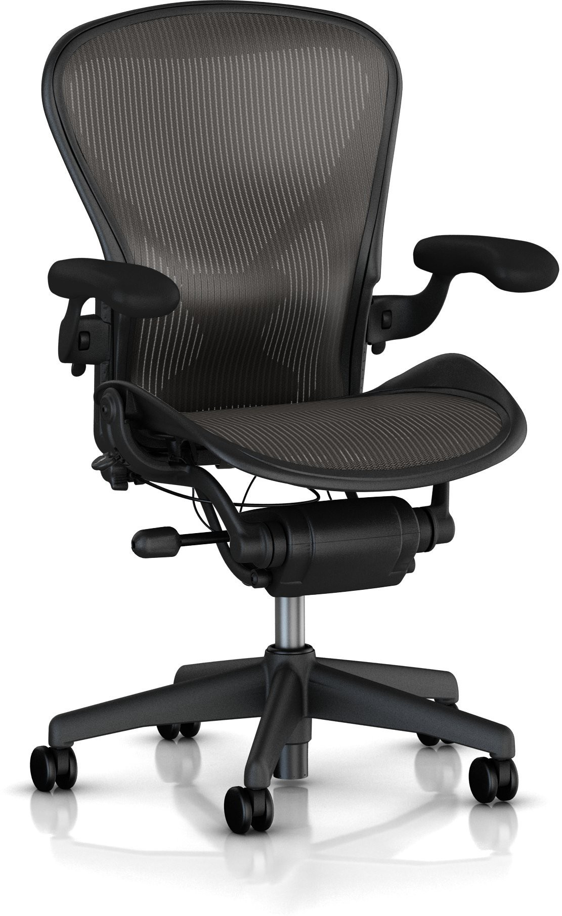 View HermanMiller Aeron - Classic Carbon Pellicle : Graphite base : Pellicle Backrest and Seat NA Office Chair(Black) Furniture (HermanMiller)