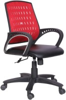 Woodstock India Leatherette Office Chair(Red, Black)