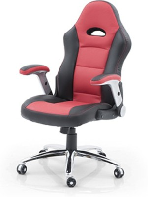 Urban Ladder Mika Leatherette Office Chair(Red)