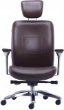 HOF Boss Leatherette Office Chair (Brown...