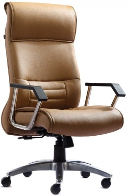 HOF Zeba Leatherette Office Chair(Brown)