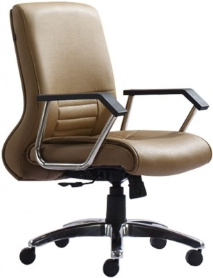 HOF Zeba Synthetic Fiber Office Chair(Beige)