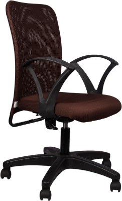 Hetal Enterprises Fabric Office Chair(Brown)