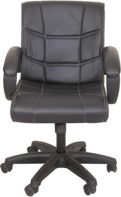 KS Chairs Leatherette Study Chair(Black)