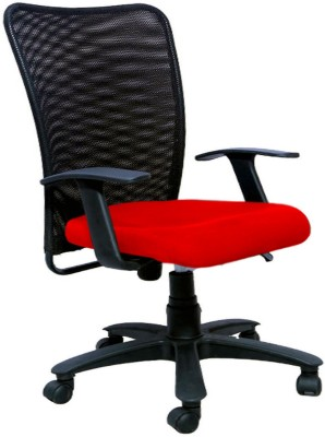 Woodstock India Fabric Office Chair(Red, Black)