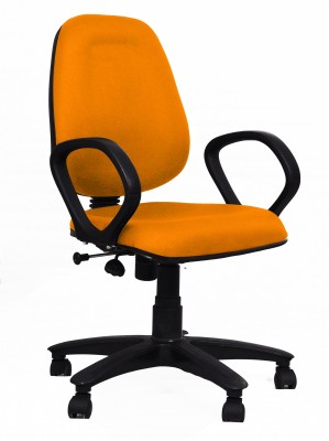 Woodstock India Fabric Office Chair(Orange, Orange)