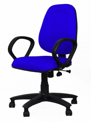 Woodstock India Fabric Office Chair(Blue, Blue)