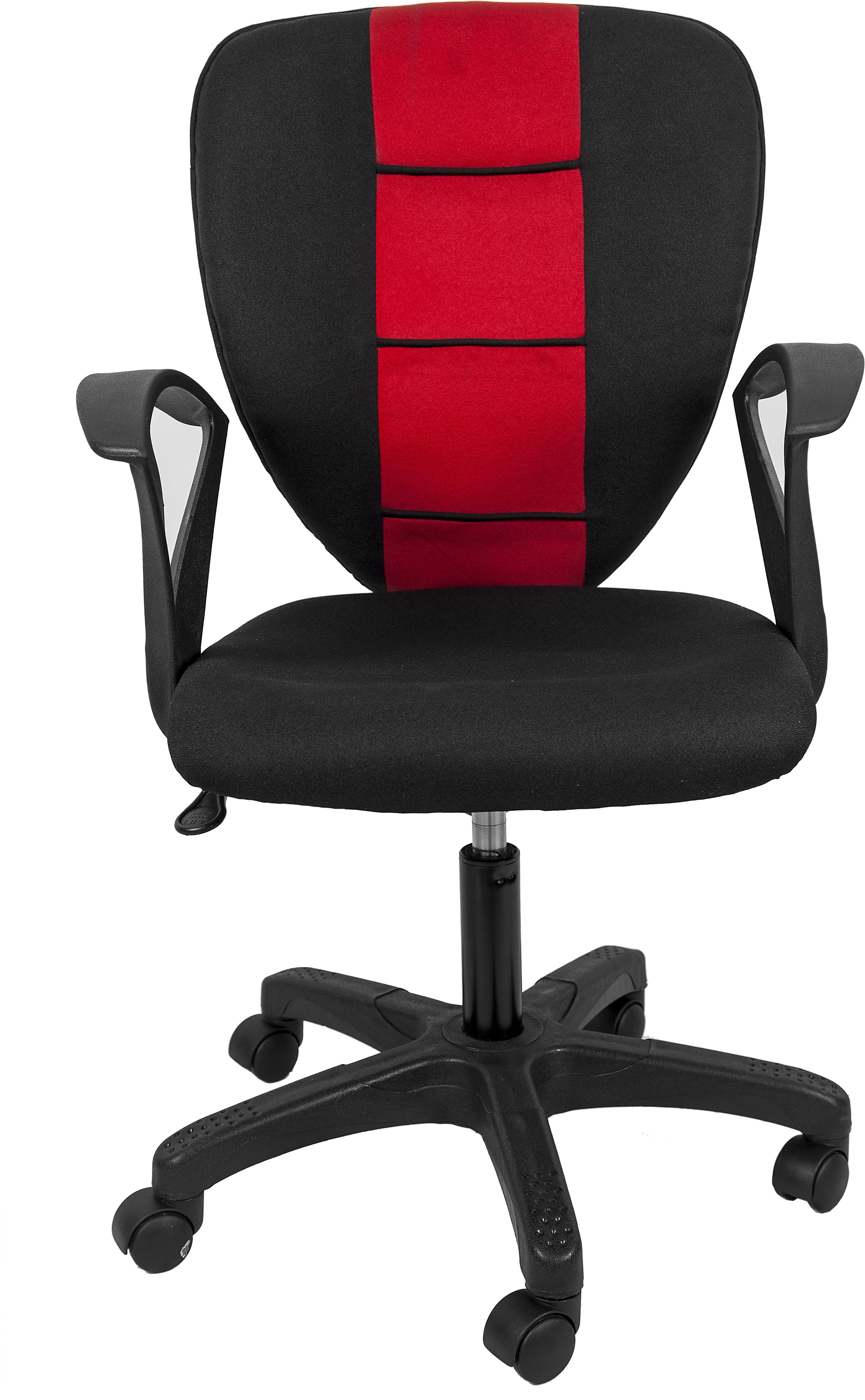 View Hetal Enterprises Fabric Office Chair(Red, Black) Furniture (Hetal Enterprises)