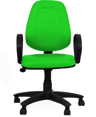Woodstock India Fabric Office Chair(Green, Green)