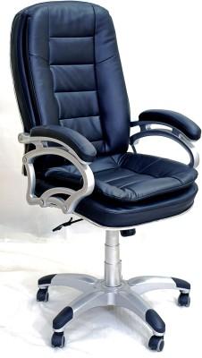 TimberTaste NANCY Metal Office Chair(Black)