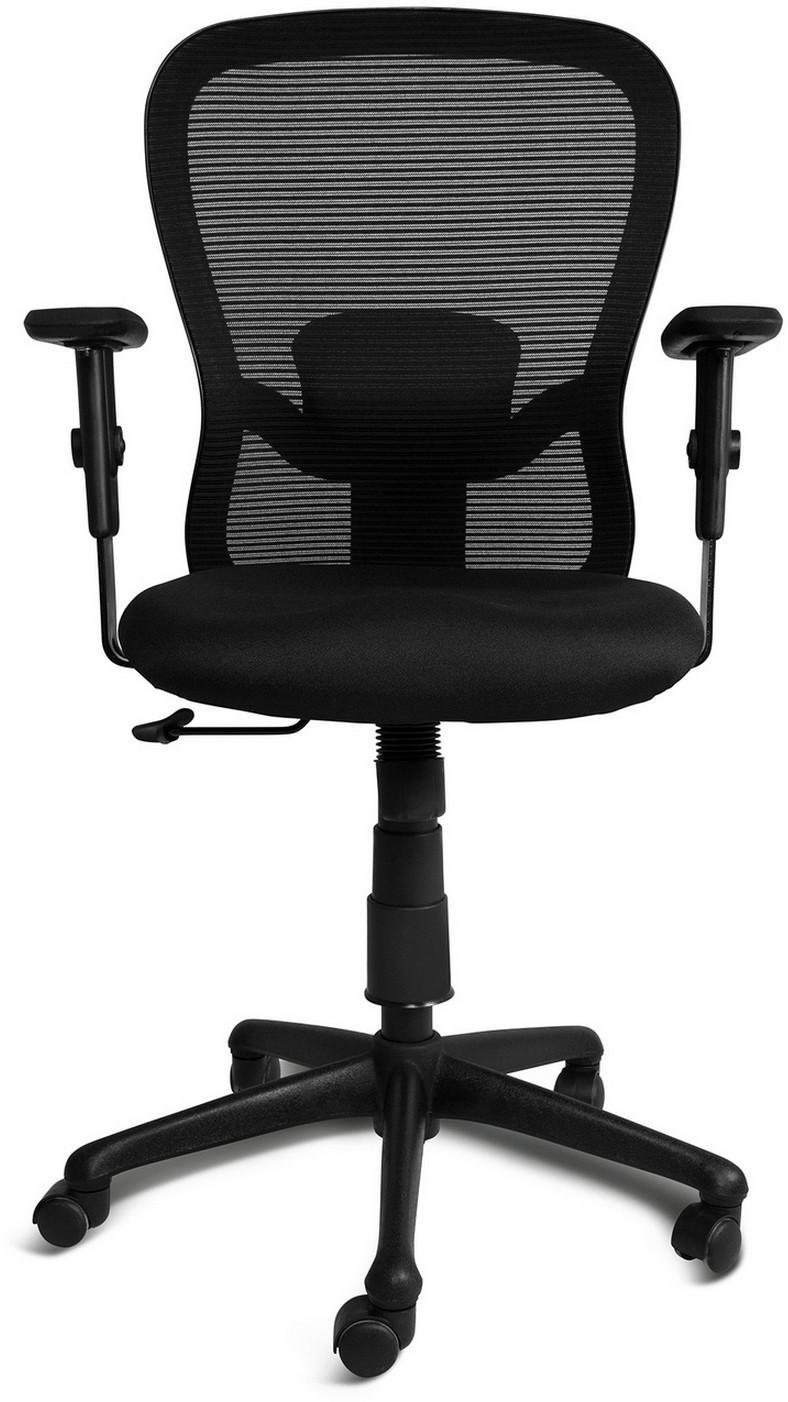 View irich Cruz Fabric Office Chair(Black) Furniture (irich)