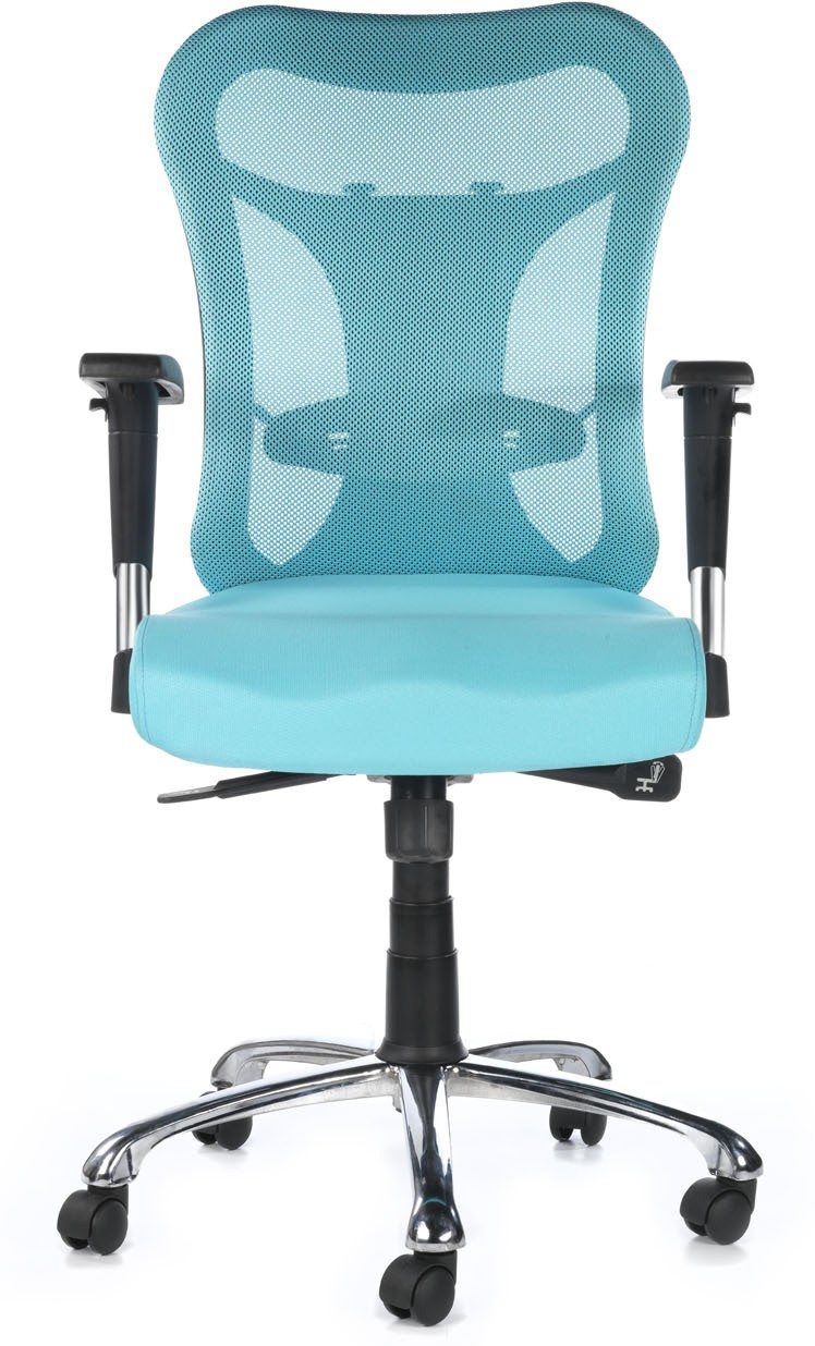 View Bluebell Kruz Mid Back Fabric Office Chair(Blue) Furniture (Bluebell)