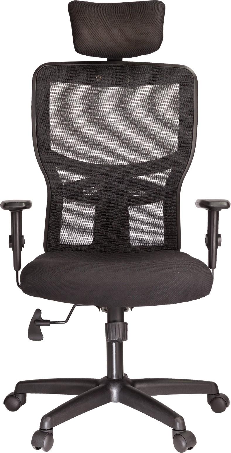 View Ergoline ERGO HB Fabric Office Chair(Black) Furniture (Ergoline)
