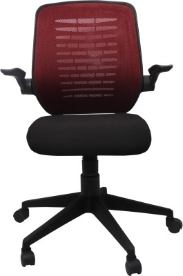 Woodstock India Fabric Office Chair(Brown, Black)