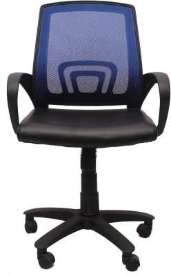 V J Interio Fabric Office Chair(Blue)