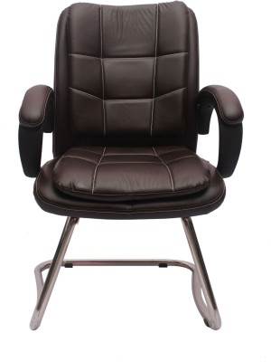 VJ Interior Leatherette Office Chair(Black)