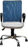 Adiko Plastic Office Chair (Blue, Grey)