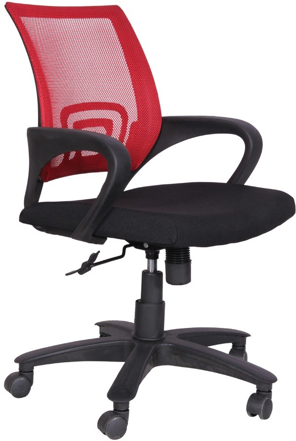 View Woodstock India Plastic Office Chair(Red, Black) Furniture (Woodstock India)