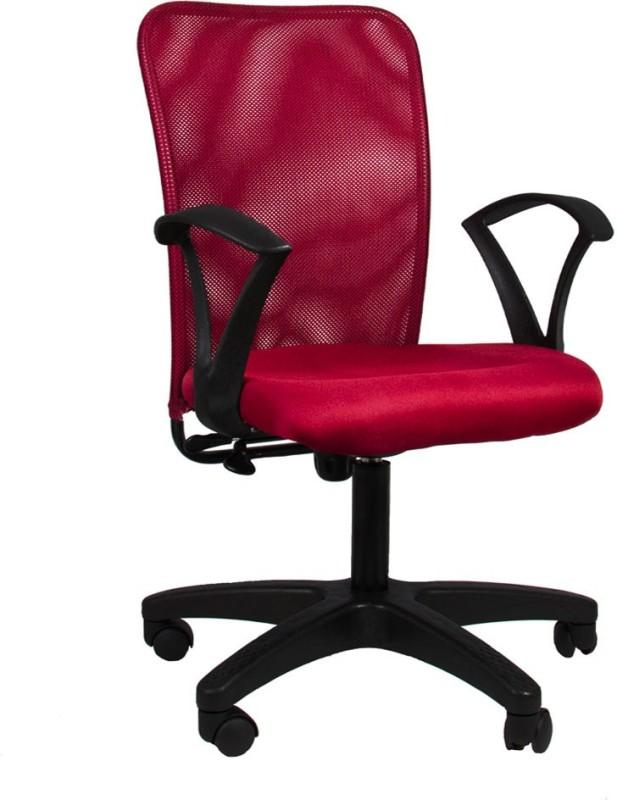 Hetal Enterprises Fabric Office Chair(Maroon)