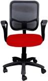 Adiko Plastic Office Chair (Black, Red)