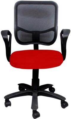 Adiko Fabric Office Chair(Black, Red)