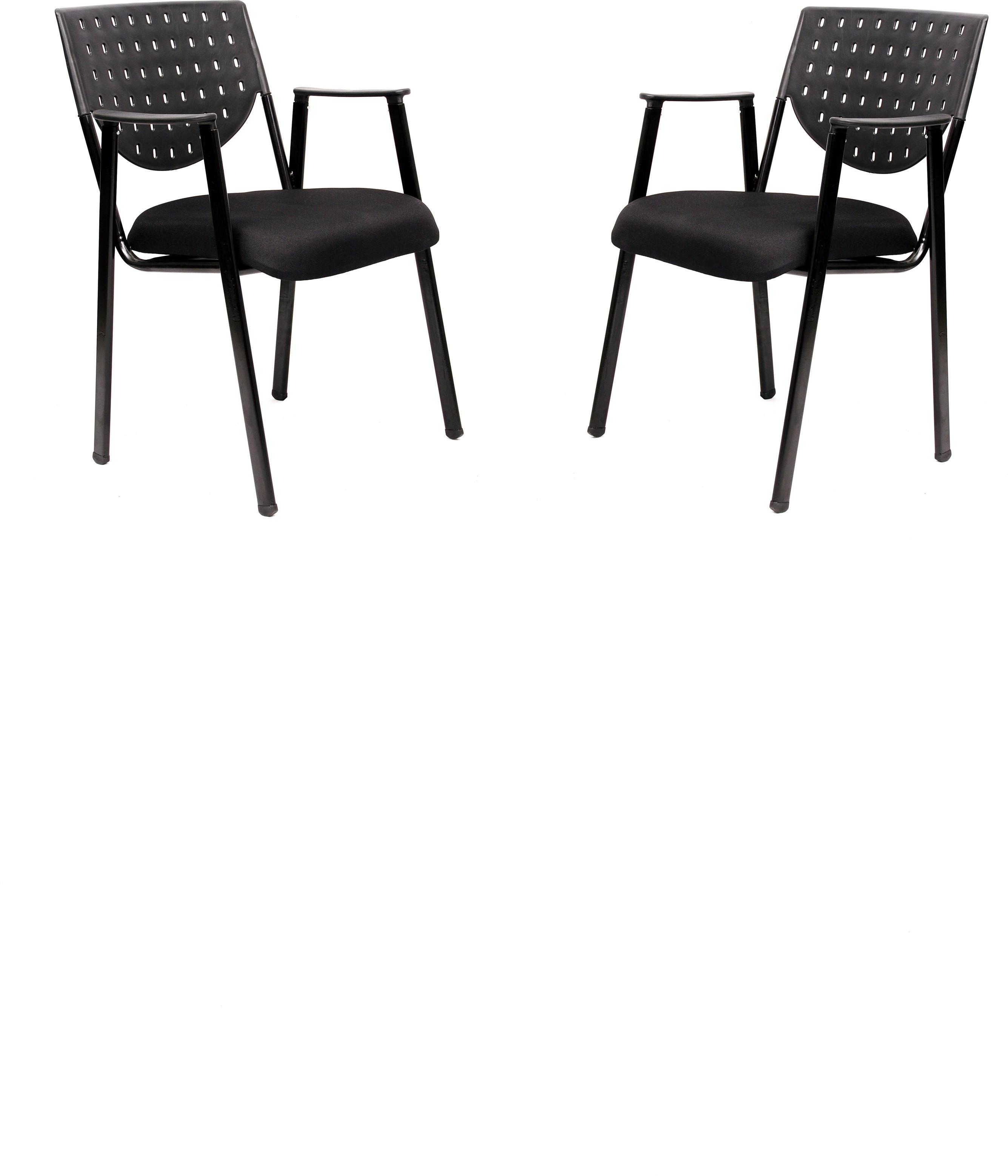 View Magnus PRIMA FIX SET OF 2 PCS NA Visitor Chair(Black, Set of 2) Furniture (Magnus)
