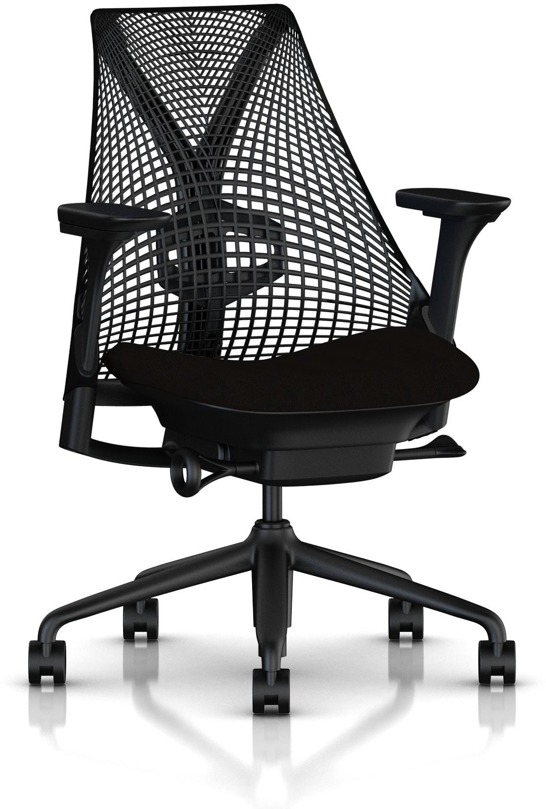 View HermanMiller Sayl with Fully adjustable arms : 3D Elastomer Strands Plastic Office Chair(Black) Furniture (HermanMiller)