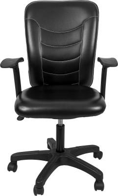 Hetal Enterprises Solid Wood Office Chair(Black)