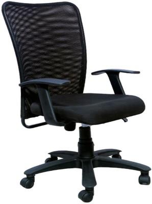 Woodstock India Fabric Office Chair(Black, Black)