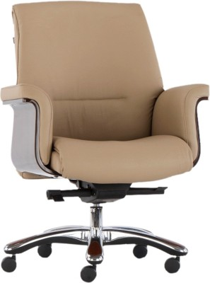 HOF Leatherette Office Chair(Brown)