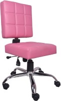 V J Interior Leatherette Office Chair(Pink)