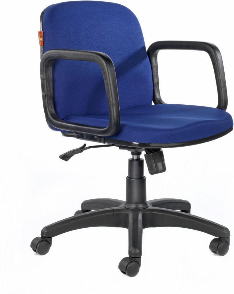 View Bluebell Zypher MidBack Fabric Office Chair(Blue) Furniture (Bluebell)